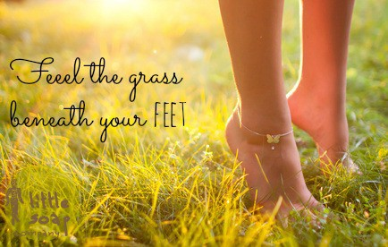 feel the grass beneath your feet~ LitteSoapCompany.co.uk