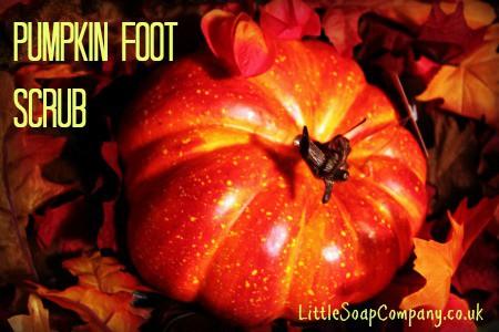 pumpkin foot scrub~ LittleSoapCompany.co.uk