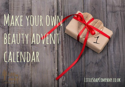 Make your own beauty advent calendar~ LittleSoapCompany.co.uk