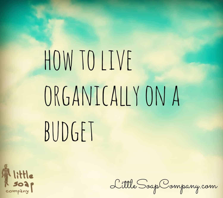 How to live organically on a budget~ LittleSoapCompany.com