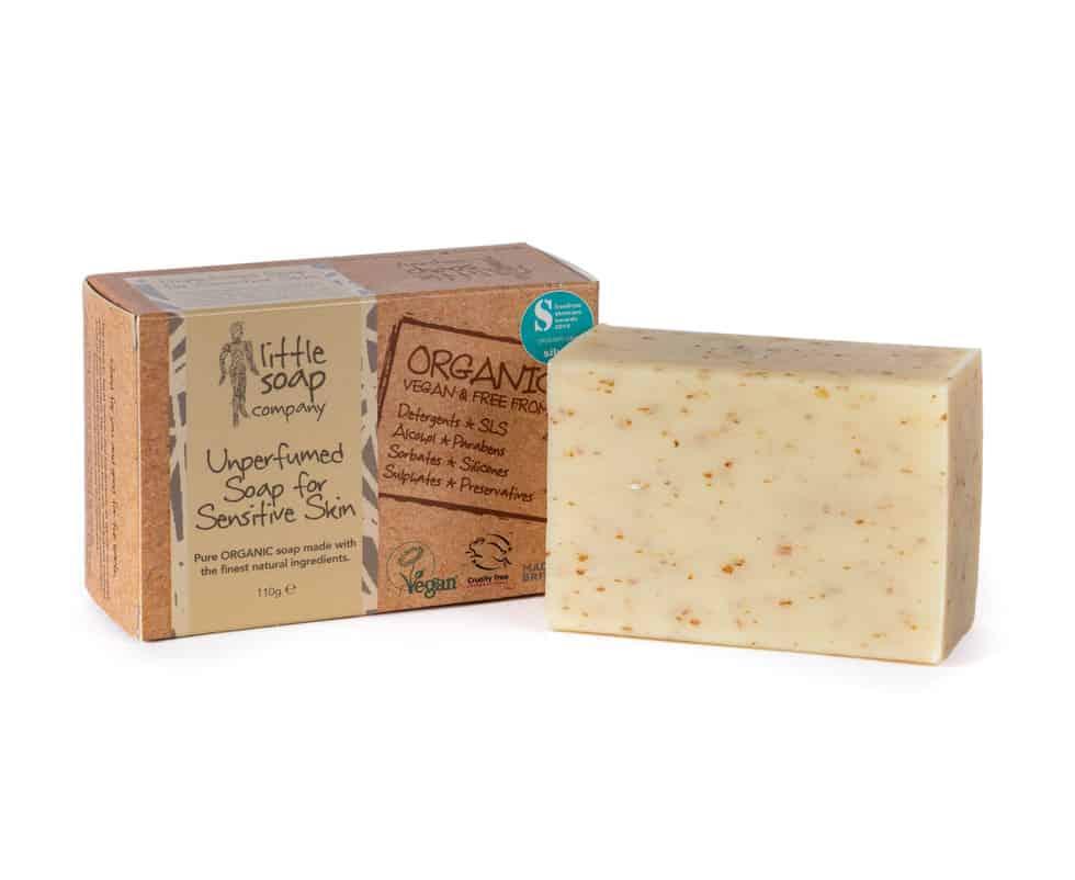 Image of our Unperfumed Bar Soap for Sensitive Skin.